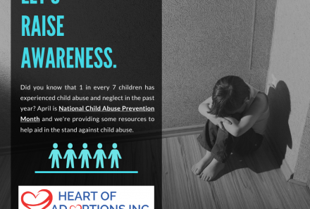 Heart of Adoptions Spreads Awareness for National Child Abuse Prevention Month